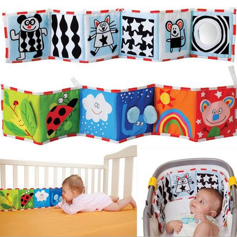 Juguetes De cuna suaves para bebé, parachoques de tela para bebé, libro de sonajeros para bebé, conocimiento sobre el tacto múltiple, parachoques colorido para cama, juguetes para niños