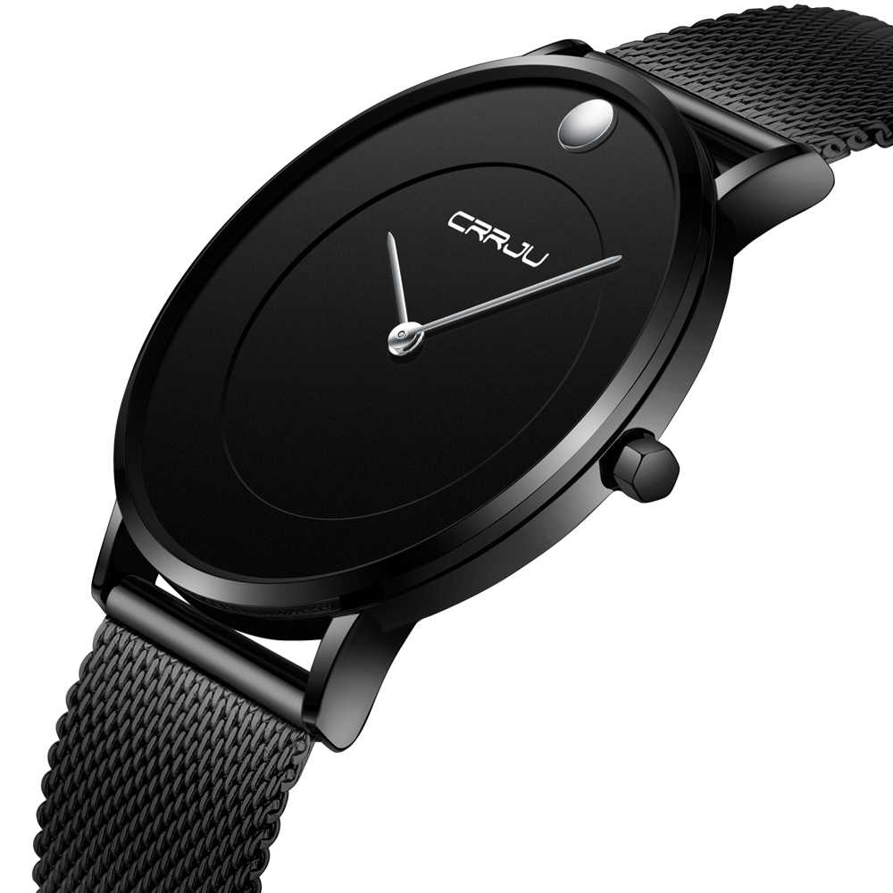 Crrju Fashion Mens Watches Top Brand Luxury Quartz Watch Men Casual Slim Mesh Steel Waterproof Sport Watch Relogio Masculino Quartz Watches Aliexpress