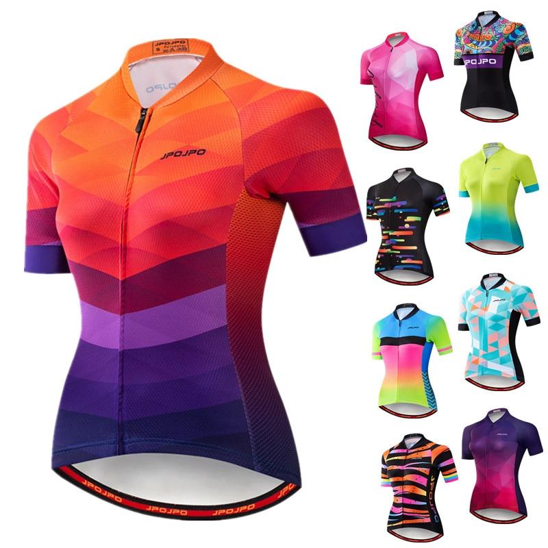 Weimostar 2019 Women Cycling Jersey Short Sleeve Racing Sport MTB Bike Jersey Cycling Shirt Pro Team Bicycle Clothing Maillot