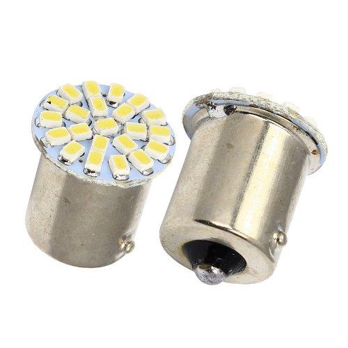 20pcs Super Bright S25 BA15S 1156 1206 3020 LED 22 SMD Brake Turn Light Auto Car Led Wedge Lamp Tail Bulbs 12V White Red Yellow