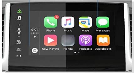 Protetor de tela de navegação do carro para 2016-2018 piloto 8-Polegada vidro temperado dureza 9h áudio infotainment display center toque