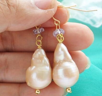 Envío Gratis> shitou 00288 barroca Rosa keshi perla reborn facetada cristal cuelga pendiente