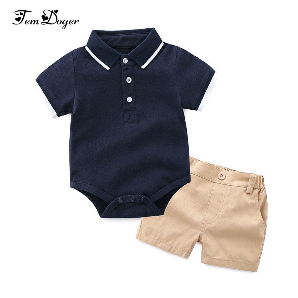 Ropa para niños tem Doger, conjuntos de ropa para bebés recién nacidos, conjuntos de 2 uds, conjuntos de verano para niños, camisetas con niño + Pantalones cortos, conjuntos de chándal para bebés