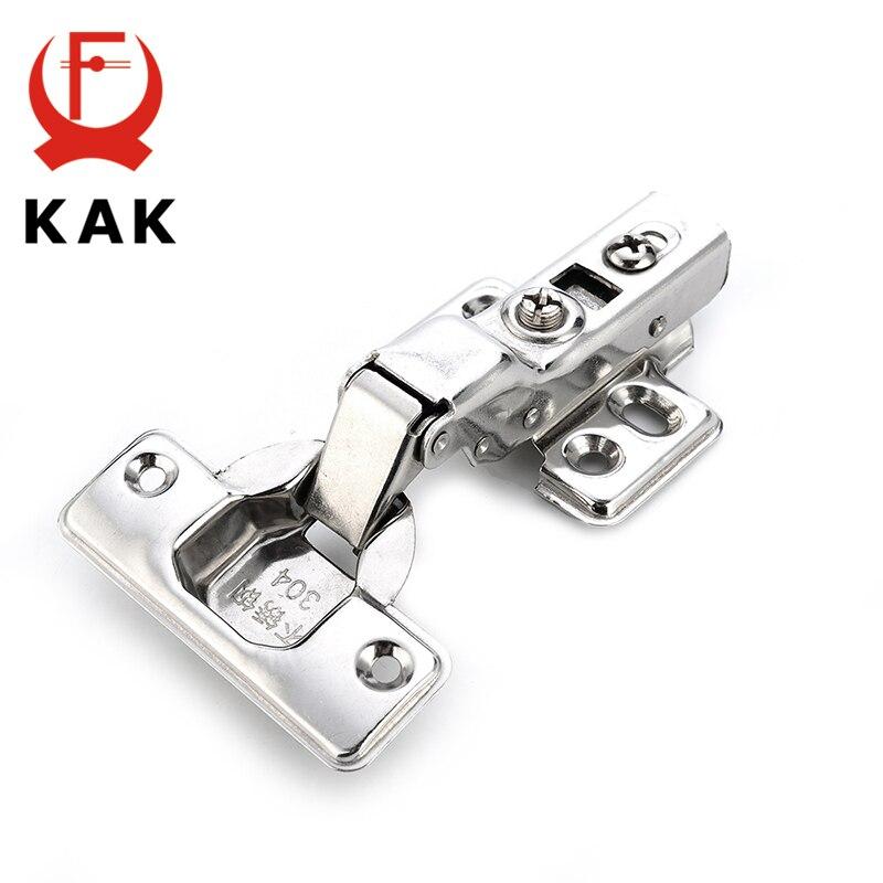KAK серии C шарнир двери из нержавеющей стали гидравлические петли Буфер Заслонки мягкое закрытие для шкафа мебельная фурнитура