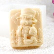 Moule de cochon S480 artisanat Silicone 3D   Savon, moules artisanaux, bricolage, bougies artisanales