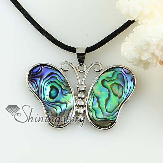 Rainbow butterfly abalone concha de madrepérola ostra concha do mar strass pingentes para colares 2013 jóias artesanais
