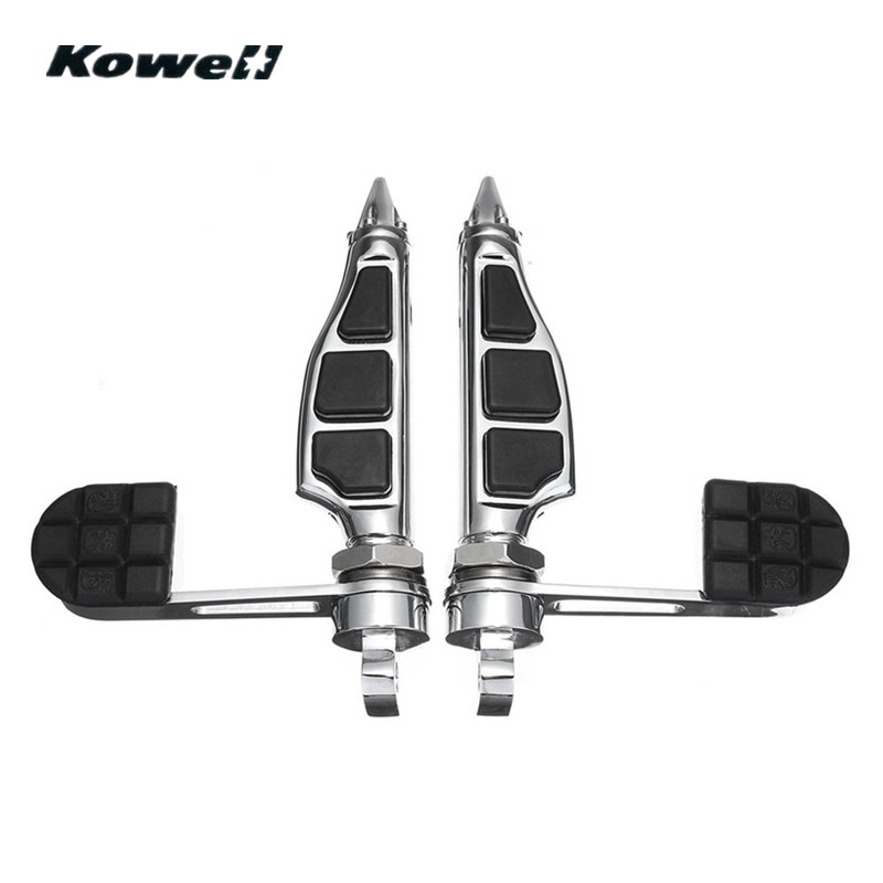 1 par 1.25 polegada 32mm ajustável montar pé calcanhar pegs pedais para harley davidson dyna sportster motobike left & right pedal