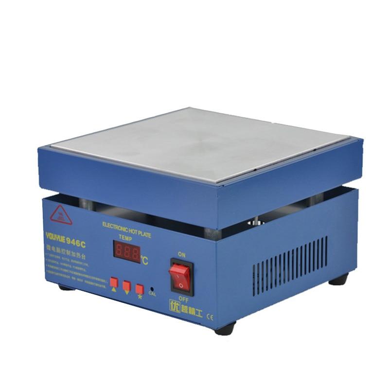946C لوحة التسخين الإلكترونية LCD شاشة رقمية ، محطة التسخين المسبق لتسخين PCB SMD ، الهاتف ، شاشة LCD تعمل باللمس منفصلة