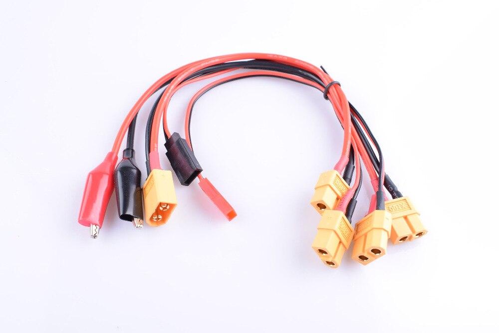 Multi RC Lipo cargador de batería XT60 hembra JST Futaba Croc clips enchufe Cable de carga