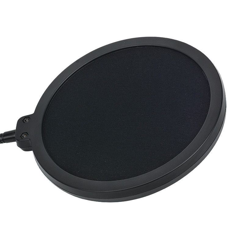 KEBTYVOR Metal Pop Filter Shield Double Layer windscreen Popfilter with microphone For Studio Speaking Recording enlarge