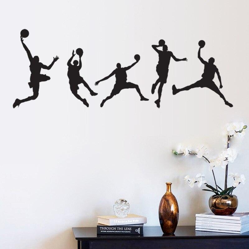 Горячие настенные наклейки домашний декор Баскетбол Спорт обои наклейка настенное искусство 44x105 см CP0455