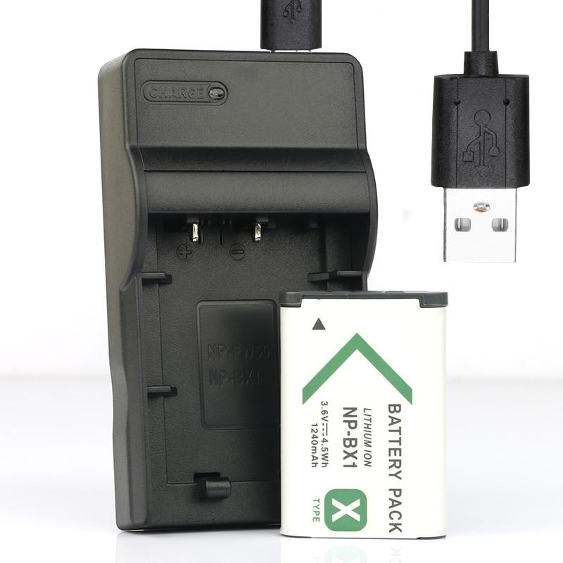 LANFULANG NP-BX1 de batería (1-Pack) y cargador para Sony NP BX1... NP-BX1/M8...