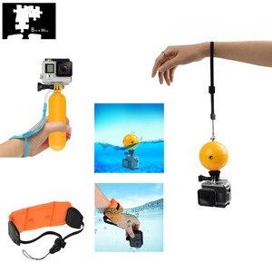 Kit de Acessórios de água flutuante para GOXTREME/Insta 360 ONE X/Gopro Hero 7 6 5 Prata Preto Branco 4 3 2 Fusion Action Camera