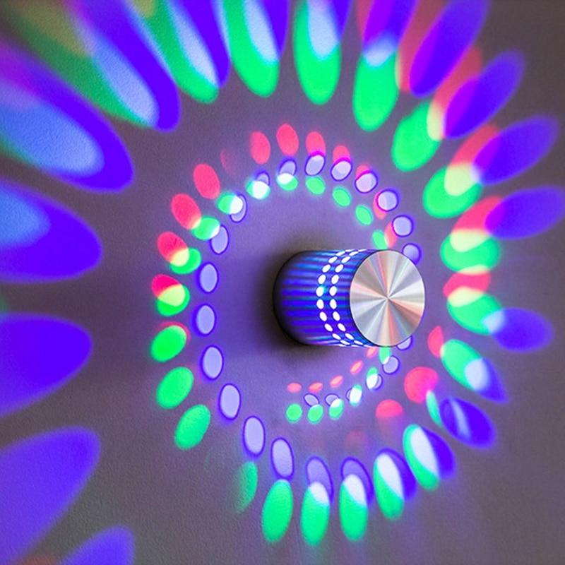 Novedad, luz LED moderna de pared 1W 3W, decoración interior, proyector de luz KTV para sala de estar, dormitorio, boda, salón, luces de techo, decoración