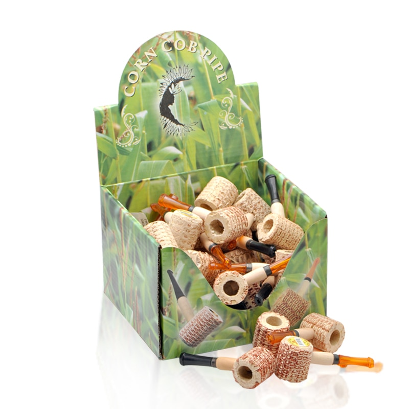 Free shipping 36pcs/lot(36pcs/box) mini Original corn cob tobacco pipe as healthy smoke cigarette filter,eco-friendly S size