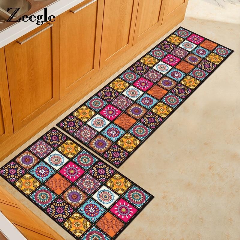 Geometric Nordic Style Carpet Kitchen Rugs Long Rectangle Living Room Floor Mat Sofa Area Rug Anti Slip Soft Bedside Carpet Mat