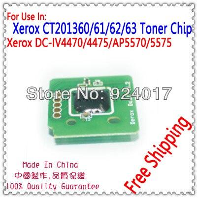 Para Xerox CT201360 CT201361 CT201362 CT201363 Chip de cartucho de tóner para Xerox docucentre-IV C4470 C4475 4470 4475 Toner Chip