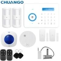 Chuango-systeme dalarme de securite sans fil  315MHZ PSTN  carte RFID  anti-cambriolage  maison connectee
