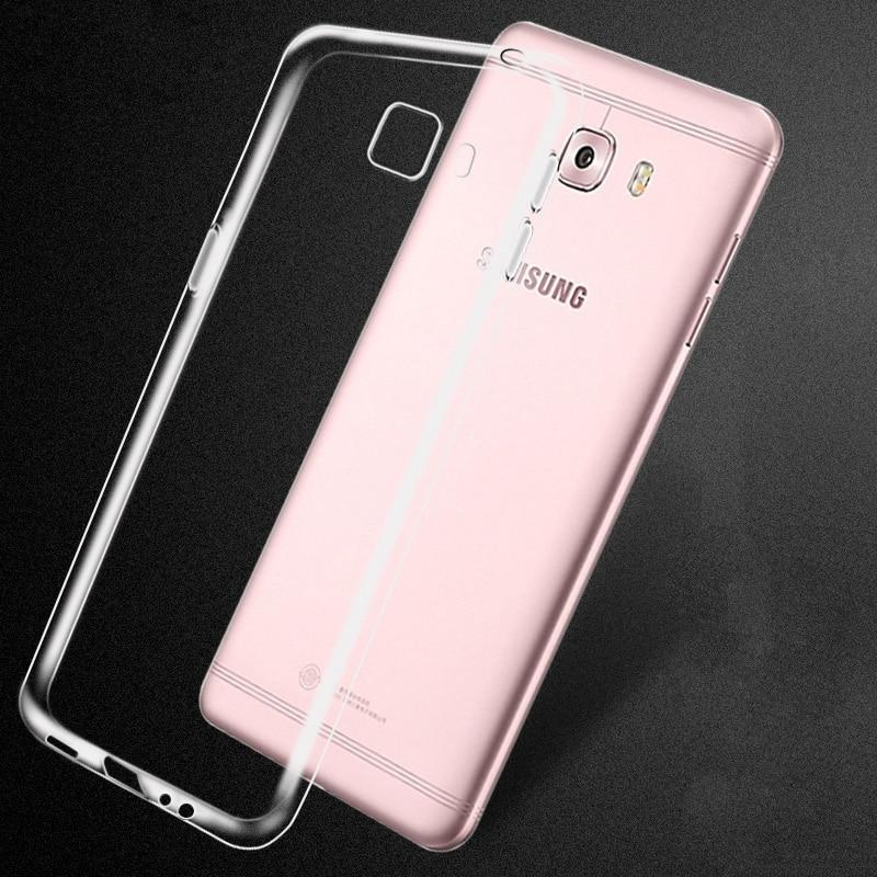 "Para samsung c7 pro ,c7pro, c7010 caso capa clássica transparente fina e fina capa de silicone macio 5.7 ""capa fina"