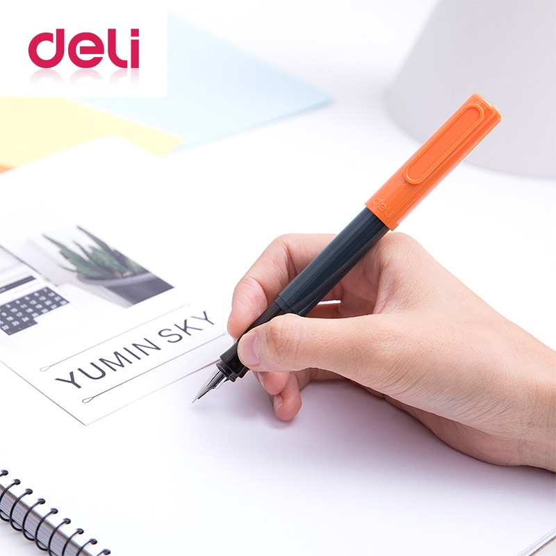 Deli, bolígrafo de 0,38mm, estuche de plástico a la moda, pluma JiaoZi, herramienta de regalo de metal, suministros para escuela y oficina, bolígrafo de papelería, A905-1 multifunción 2