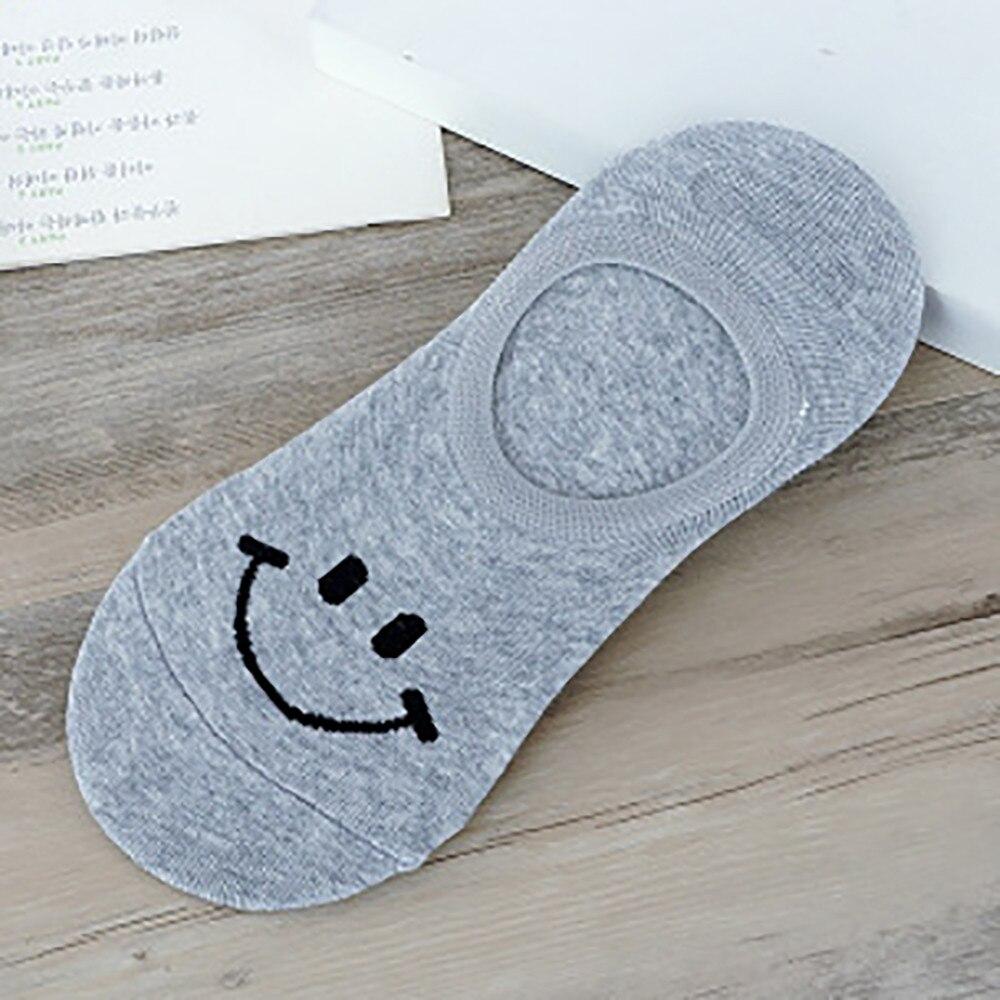 1 par de calcetines JAYCOSIN cómodos de algodón con sonrisa para mujer y hombre, seda fina de verano, pantuflas con medias de algodón, calcetines tobilleros cortos 9030915