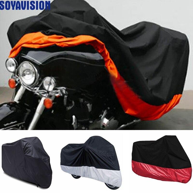 Capa da motocicleta para harley davidson glide rua electra glide ultra clássico flhtcu road king touring honda gl motocicleta capa