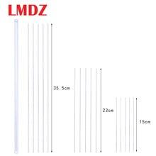 LMDZ 335/230/150mm en acier inoxydable longues aiguilles à perles argent chaîne perles aiguille broche pour bijoux Bracelet collier bricolage