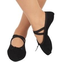 2019 New Indoor Black Cloth head girls soft sole dancing shoes women's ballet dance shoes size 30-41