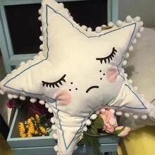 Cute Little Star Kids Cushion Cartoon Eyelash Children's Room Decoration Pillow Cushions Nordic Sleepy Eyes Baby Pillow Gift