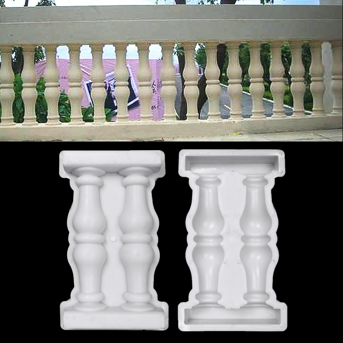 1pcs Garden Roman Column Mold Buildings Paving Molds DIY Balcony Garden Pool Fence Cement Railing Plaster Concrete Mold 50x28cm