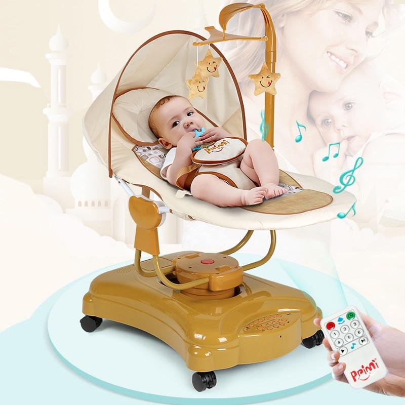 Детское электрическое удобное кресло-качалка, детский артефакт, колыбель для сна, автоматический умный шейкер для детей, вращение на 360 град...