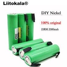 6PCS / LOT INR1865025R Liitokala New Original 18650 2500mAh battery 3.6V discharge 5A Dedicated Power battery + DIY Nickel foil