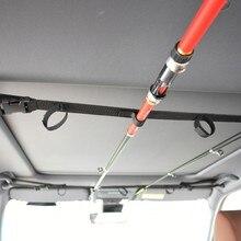 1 pièces/2 pièces canne à pêche voiture Support avec ceinture de soutien avec système de Support pêche voiture intérieur enlèvement outils de pêche