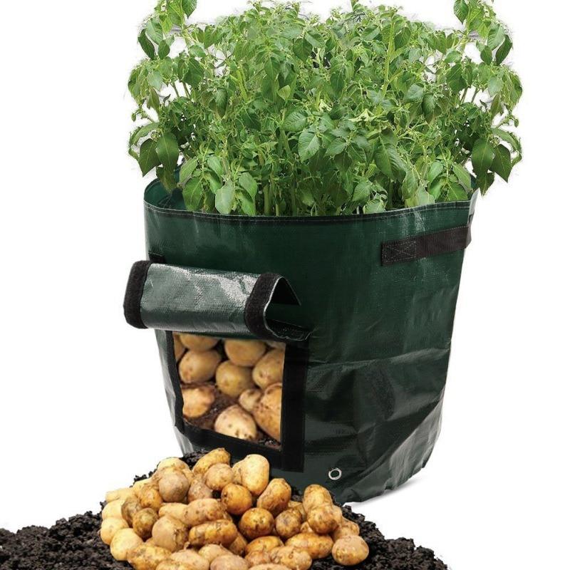Jardinería vegetal jardineria espesar Maceta de jardín siembra de patatas bolsa de cultivo plantador de cultivo trapo PE bolsa de siembra
