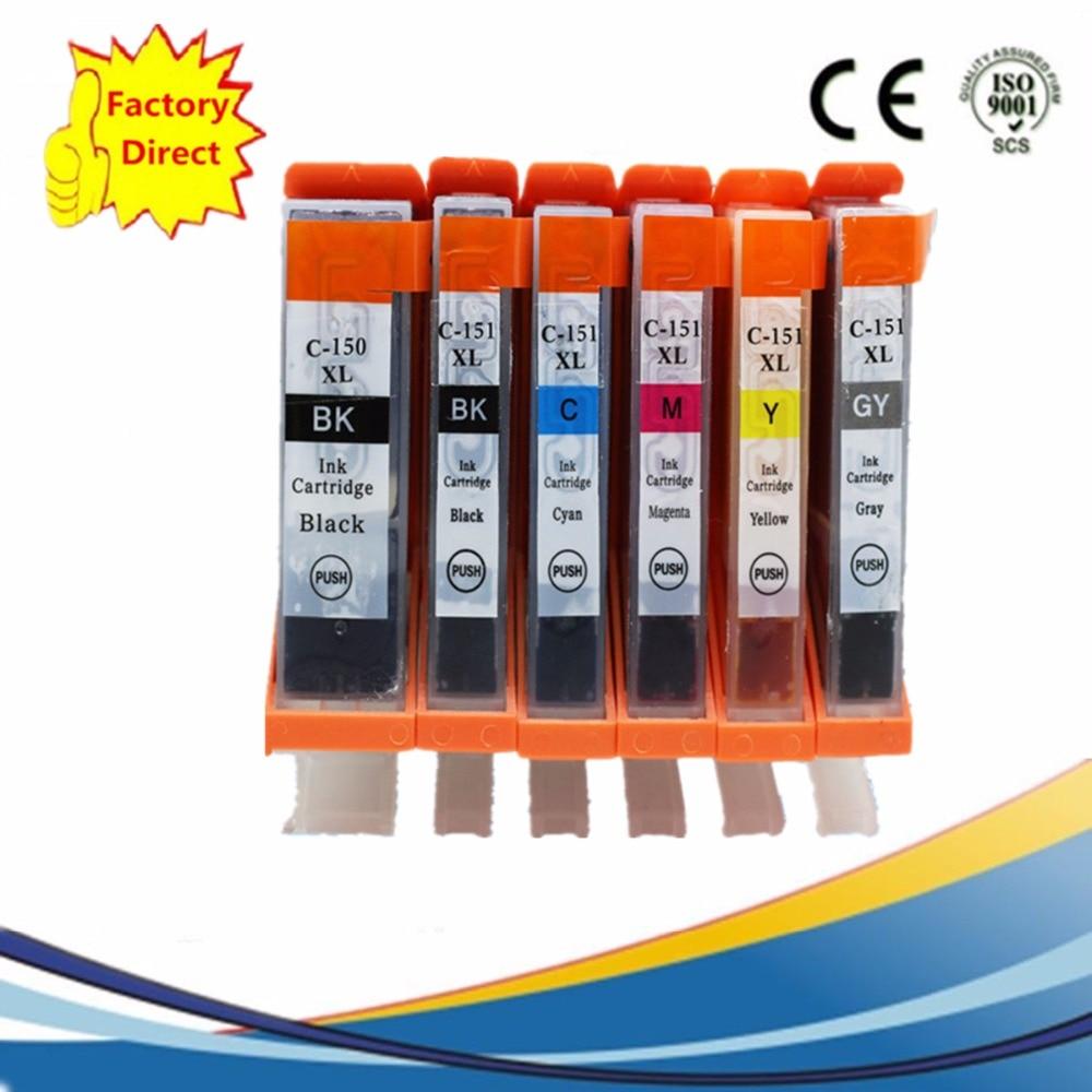 PGI-150 PGI-150XL PGI150 PGI 150, reemplazo de cartucho de tinta para Pixma MG6310 MG7110 CLI-151 MG-6310 MG 6310 7110, MG-7110
