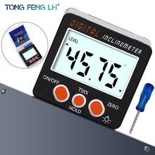 Elettronico Inclinometro Digitale Goniometro 0-360 In Lega di Alluminio Digital Bevel Box Angle Gauge Meter Magneti Base strumento di Misura