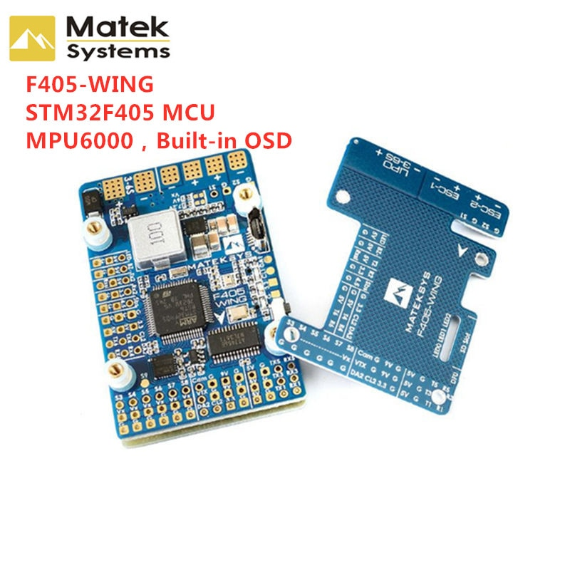 New Matek Systems F405-WING STM32F405 Flight Controller Built-in OSD for RC Fix wing drones Fpv Mode