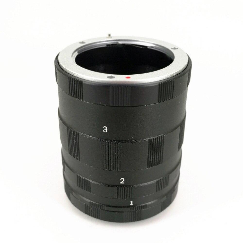 Tubo de extensión Macro 3 anillos para Panasonic Olympus Macro 4/3 M43 MFT lente de cámara EM1 EM5 EM10 EP5 EPL6 GX7 GX1 GH3 G5 G6