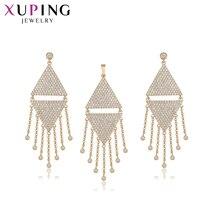 Xuping luxo borla forma conjunto de jóias para mulheres venda superior jóias casamento noivado presentes de natal S114.3-64444