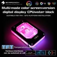 Barrowch FBLTFHAT-04N-V2 For AMD Ryzen Threadripper X399 Platform Blocks Digital Display Temperature 0.4mm Microwaterway Block
