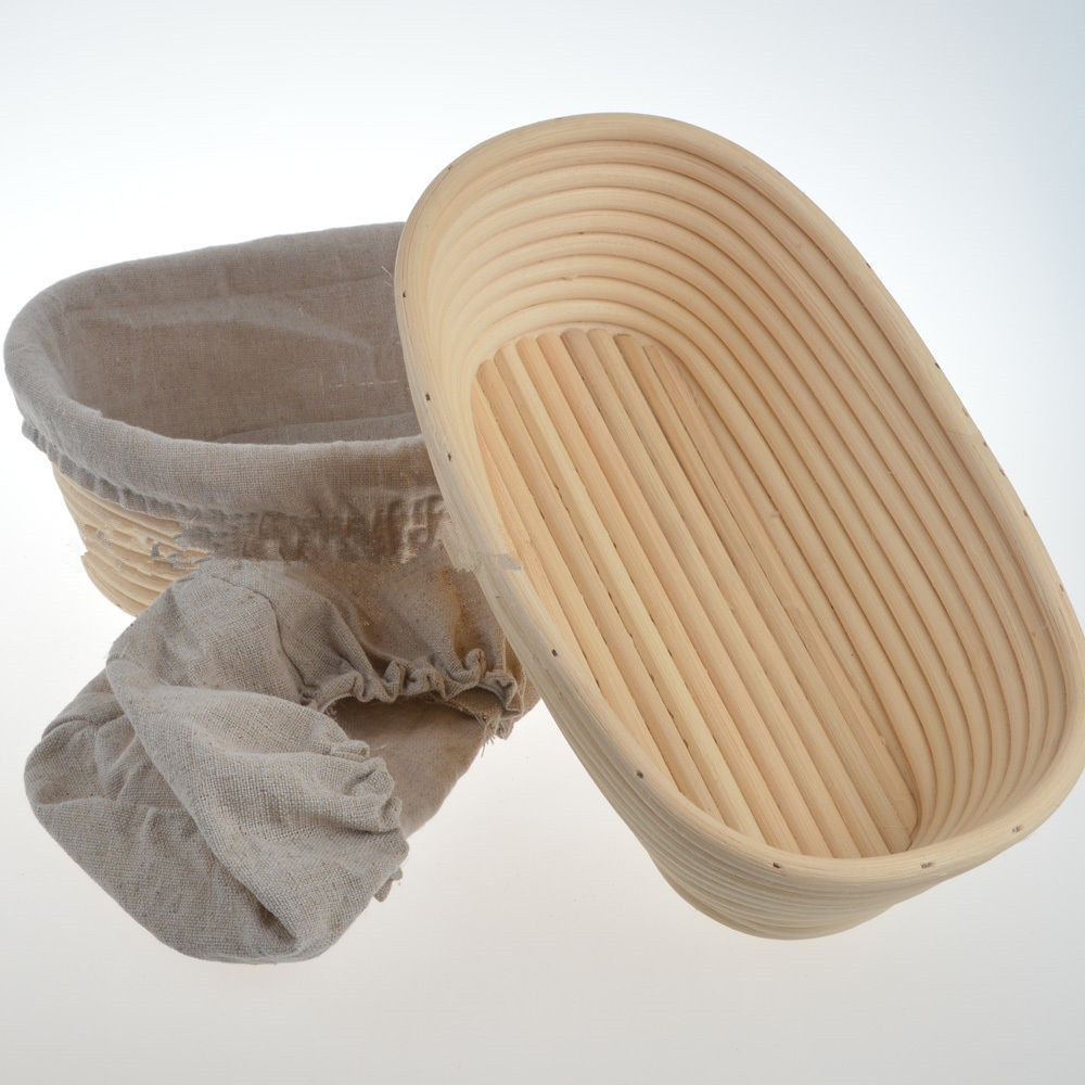 "2x10 ""/25 cm Oval Banneton Brotform Pão Prova Provando Basket FreeP & P F 750g"