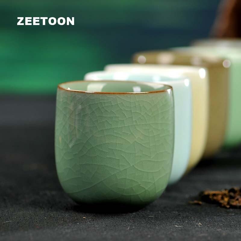 160 мл японская Longquan чайная чашка из селадона чайный набор кунг-фу бутиковая чашка ручной работы фарфоровая чаша для чая керамическая креативная чашка