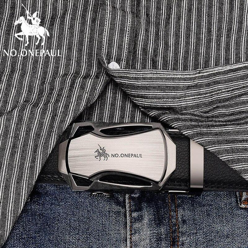 NO.ONEPAUL High Quality Automatic Buckle Belt Man Strap Cinturones Hombre New Arrival Designer Genuine Leather Men Belts