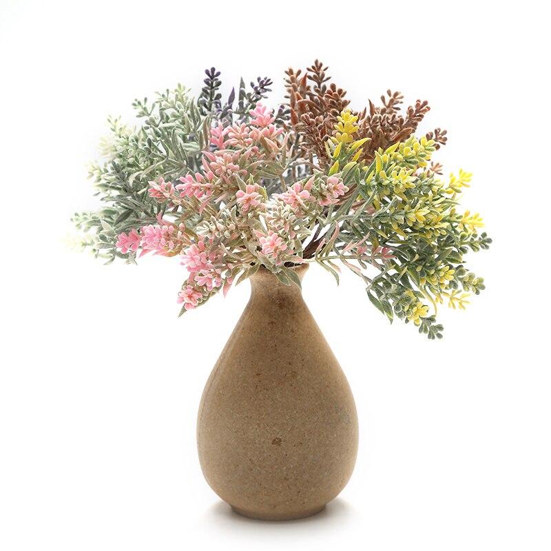 6pcs Artificial Pequeno Buquê de flores Para O Casamento Decoração Scrapbooking DIY Coroa de Flores Decorativas Flores Falsas