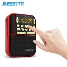 JINSERTA Mini Fm Radio stéréo de poche Portable Micro Sd Radios mode bande haut-parleur Tf Usb Mp3 haut-parleurs Fm récepteur haut-parleur