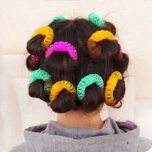 8/16Pcs Hair Styling Donuts Hair Styling Roller Hairdress Plastic Bendy Soft Curler Spiral Curls Rol
