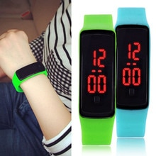 New brand LED Contracted fashion digital 14 color kids men and women sports silicone quartz watch fo