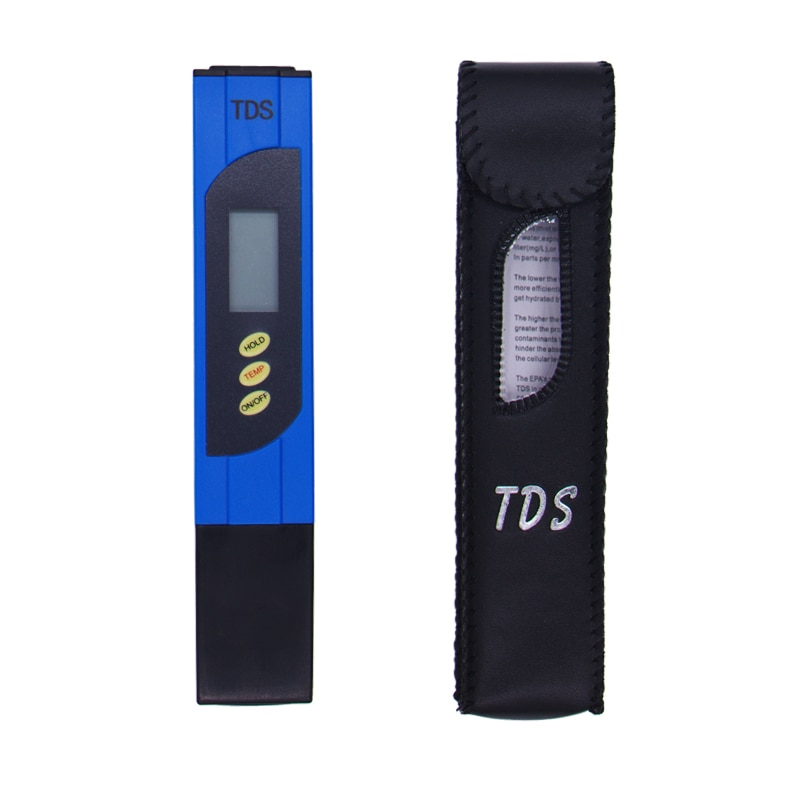 10 unids/lote, diseño de pluma, medidor de PH TDS, probador, Analizador de calidad de agua, fuentes de detección, sonda de titanio, pantalla grande 0-9999 PPM 10%