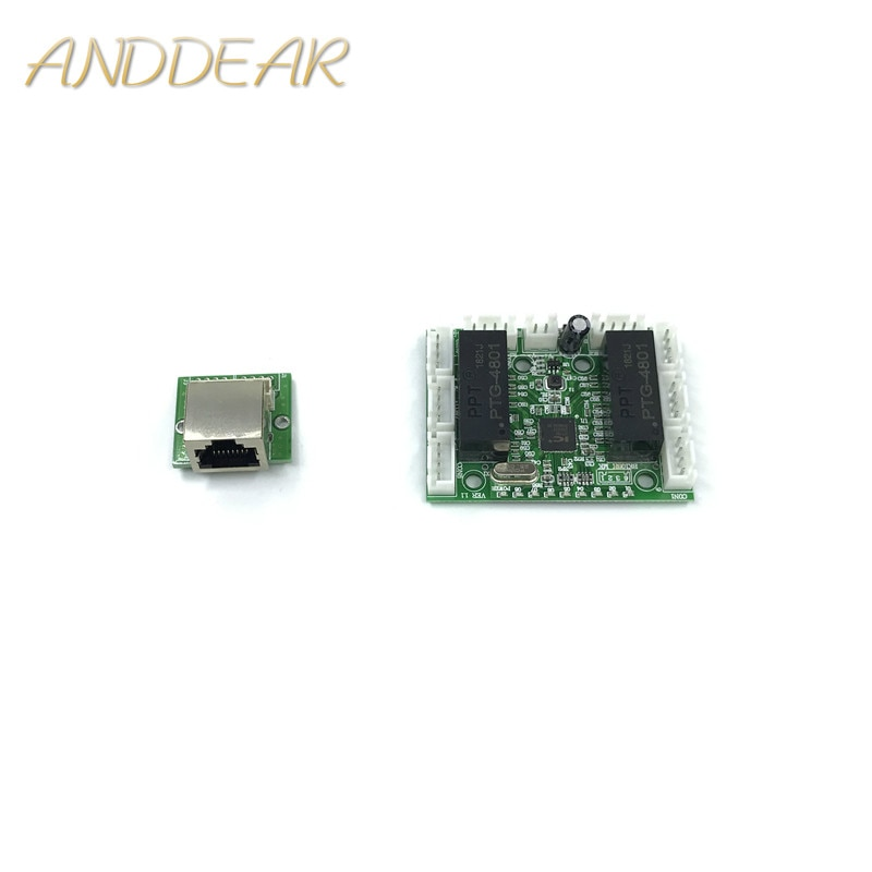 mini module design ethernet switch circuit board for ethernet switch module 10/100mbps 8 port PCBA board OEM Motherboard