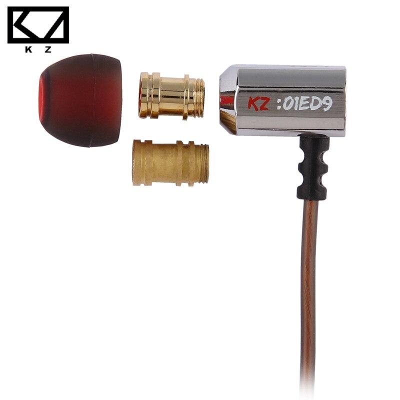 KZ ED9-سماعة داخل الأذن مع فوهات ضبط ، وسماعات HiFi مع ميكروفون ، وصوت شفاف
